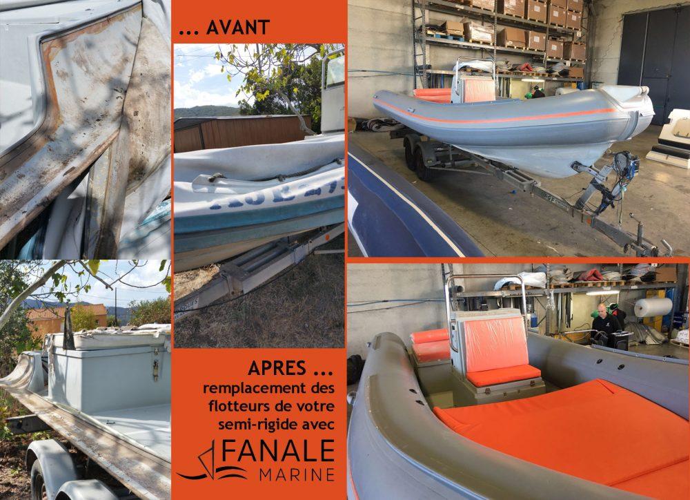 Renouvellement de flotteurs bateaux semi-rigides Corse